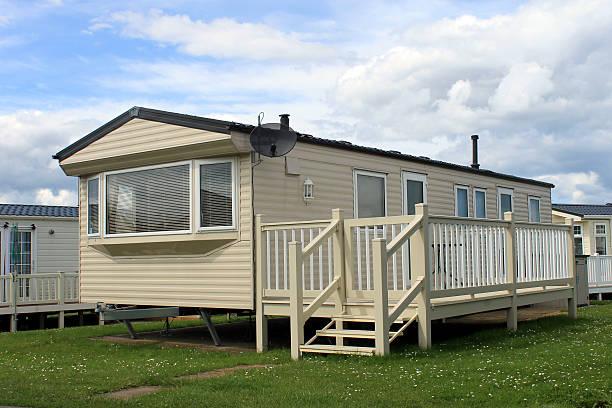 mobile home on trailer park
