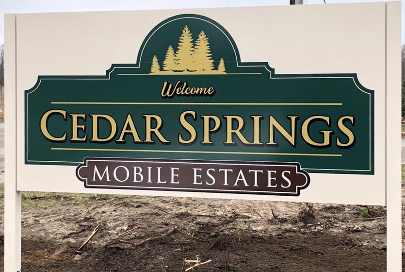 Cedar Springs Mobile Estates Signage - 1