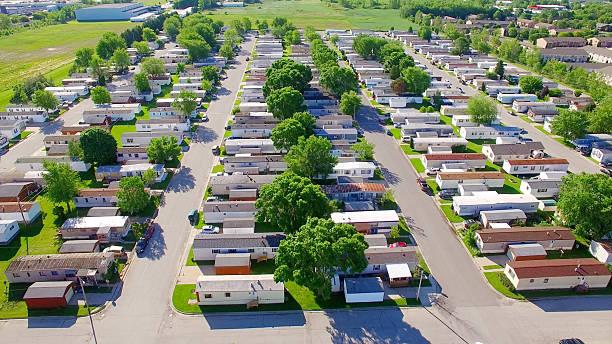 Vast trailer park, mobile home