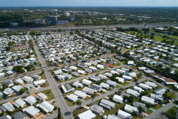 Stock photo of a trailer park