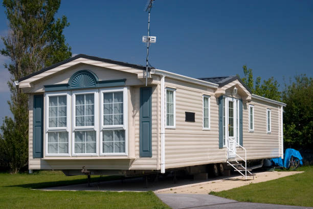 A modern luxury static caravan.