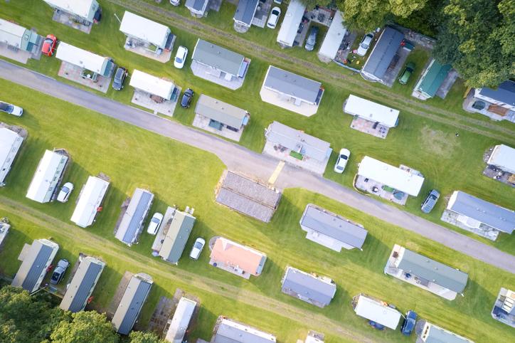 Caravan site park aerial view