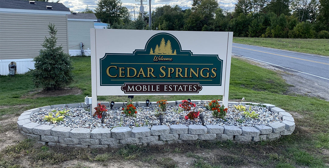 Cedar Springs Mobile Estates Signage - 1