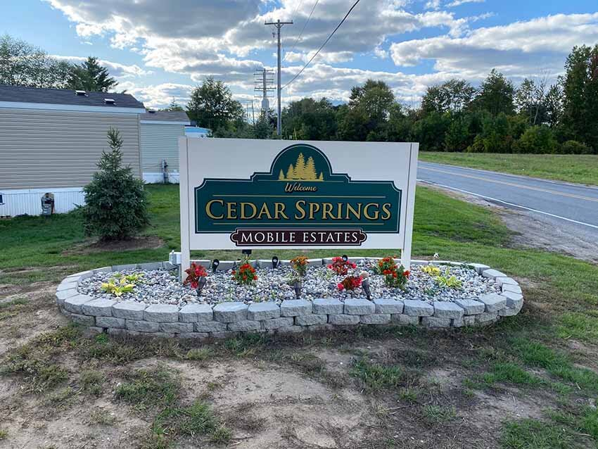 Houses For Sale In Cedar Springs MI Signage