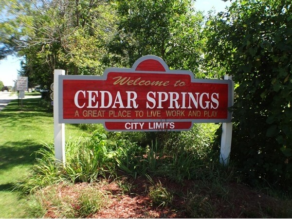 Welcome To Cedar Springs Michigan
