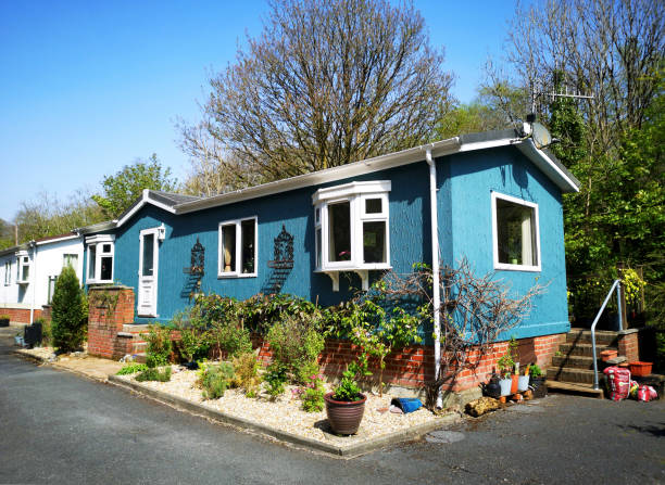 Blue Manufactured Home