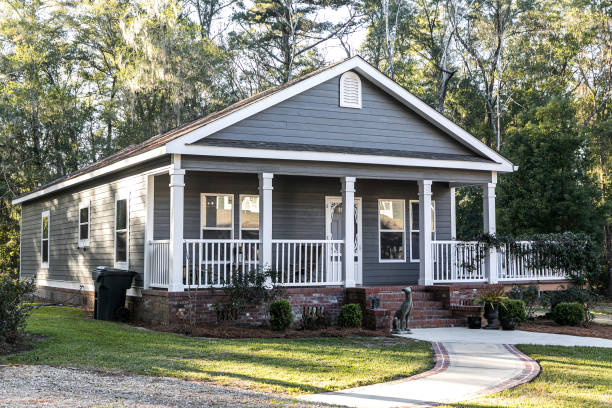 Small blue gray mobile home mobile home parks