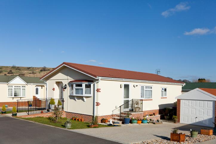 Residential mobile park home estate.
