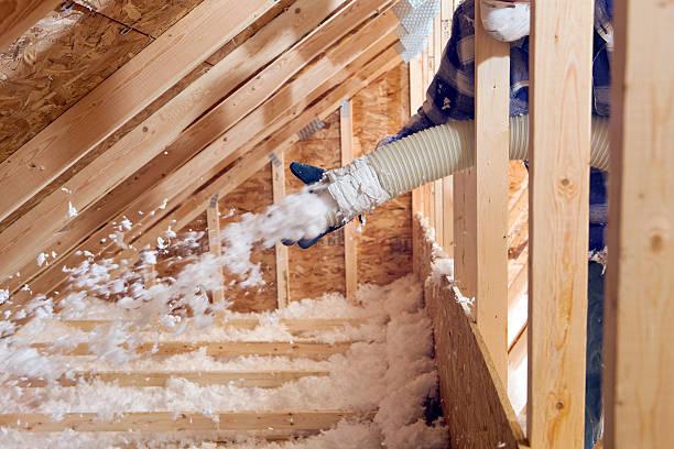 foam sprayed insulation - blowing insulation